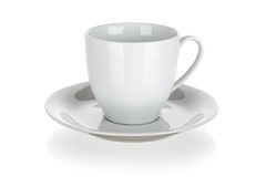 Cup and saucer isolated Stock Photography
