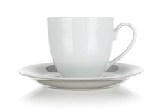 Cup and saucer isolated Stock Photos