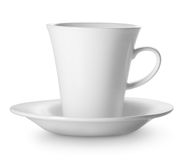 Cup on saucer Stock Images