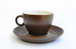 Cup and saucer isolated on a white background Royalty Free Stock Photography