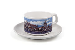 Cup with saucer o Stock Image
