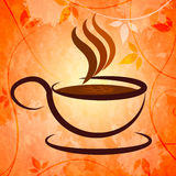Cup And Saucer Represents Coffee Shop And Beverage Royalty Free Stock Photos