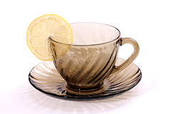 Cup and saucer tea. Royalty Free Stock Image