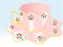 Cup and saucer for tea Stock Image