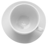 Cup & Saucer. View down on to a cup and Saucer Royalty Free Stock Photography