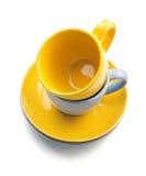 Cup and saucer on white. Cup and saucer  on white background Stock Image