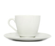 Cup and saucer on white background. Cup and saucer isolated on white background Royalty Free Stock Photos