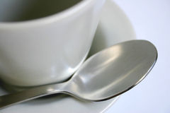 Cup, Saucerand Spoon Royalty Free Stock Image