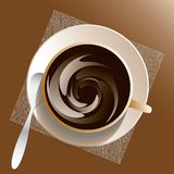 Cup and sauser with coffee vector illustration