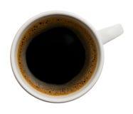 Cup schwarzer Kaffee Stockfoto