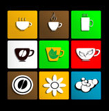 Cup set. Vector eps 10 Royalty Free Stock Images