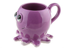 Cup in the shape of an octopus Stock Image