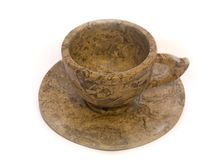 Cup from a shell limestone Royalty Free Stock Image