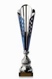 cup Silberner Cup des Siegers lokalisiert auf weißem Hintergrund Stockfoto