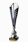cup Silberner Cup des Siegers lokalisiert auf weißem Hintergrund Lizenzfreies Stockfoto