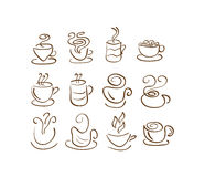 Cup Silhouettes Stock Photo