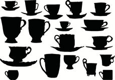 Cup silhouettiert Ansammlung Lizenzfreie Stockfotos