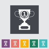 Cup Single Flat Icon. Stock Photo
