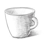 Cup sketch vector illustration Royalty Free Stock Photography
