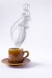 Cup with smoke dollar shape Stock Photo