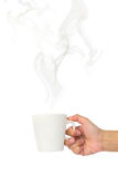 Cup with smoke Royalty Free Stock Photography