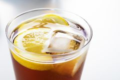 Cup of soda or vermouth. In glass royalty free stock photos