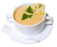 Cup of soup Royalty Free Stock Images