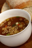 Cup of Soup. Cup of minestrone soup with croutons Royalty Free Stock Photos