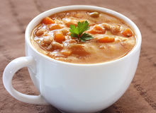 Cup of Soup Royalty Free Stock Photography