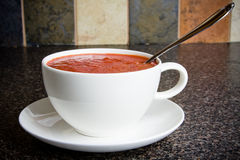Cup of soup stock image