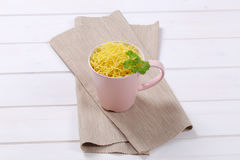 Cup of soup noodles Stock Photography
