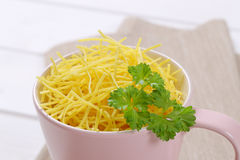 Cup of soup noodles Royalty Free Stock Photos