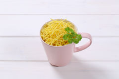 Cup of soup noodles Stock Image