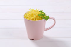 Cup of soup noodles Stock Images