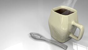 Cup and Spoon 3D Stock Photography