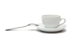 Cup with spoon and saucer Royalty Free Stock Photos