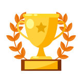 Cup of the sports winner. Vector flat isolated Stock Photography