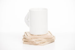 Cup on a  stand on a white background Royalty Free Stock Images