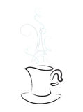 Cup with steam Stock Images