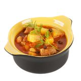 Cup with steamed potatoes. Royalty Free Stock Photography