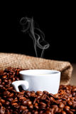Cup of steamy coffee Stock Photography