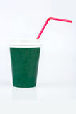 Cup with straw Stock Image