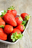 Cup of strawberries Stock Photography