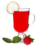 Cup of strawberry tea Royalty Free Stock Photos