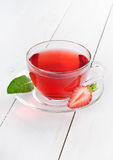 Cup of strawberry tea Stock Photos