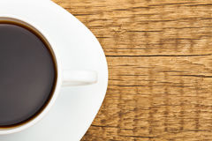 Cup of strong black coffee - close up studio shot Royalty Free Stock Image