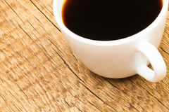 Cup of strong black coffee - studio shot Stock Images