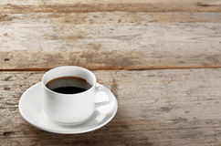 Cup of strong black coffee Royalty Free Stock Photography
