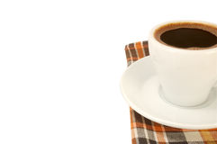 Cup of strong coffee Stock Image