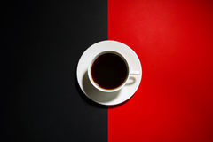 Cup with strong coffee Royalty Free Stock Photo